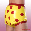 Rubber Pants with Dots - KINKY DIAPERS